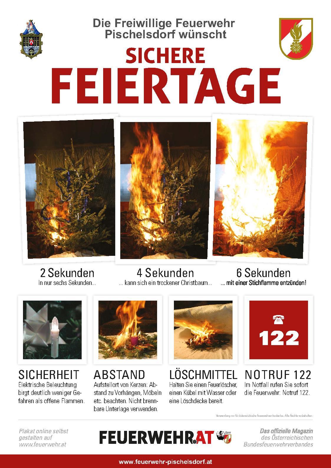 Freiwillige Feuerwehr Pischelsdorf :: Tipps für Weihnachten